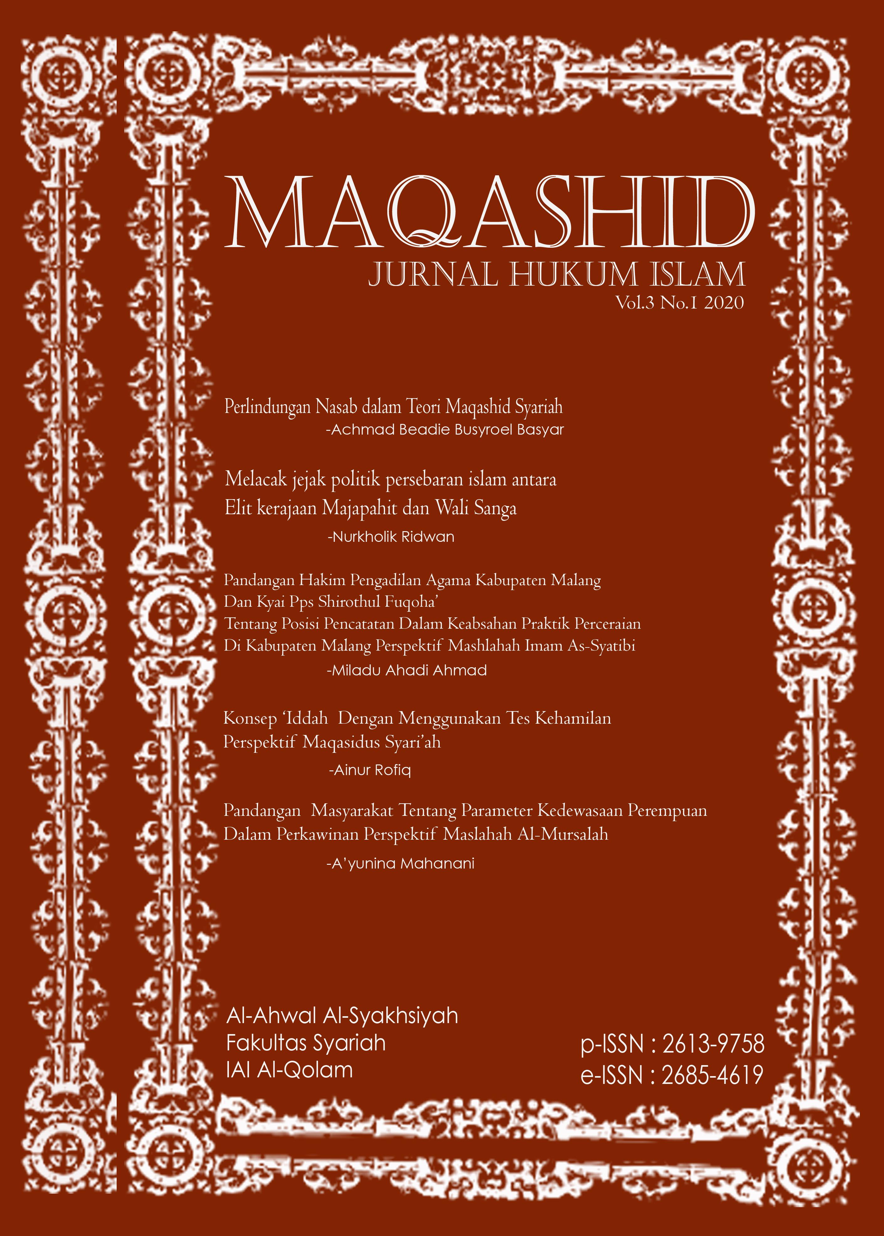 Jurnal Maqashid IAI al Qolam